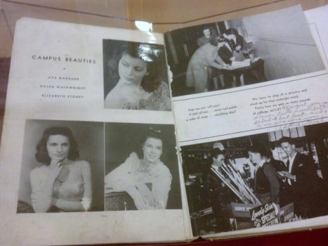 Ava's college yearbook. (Comet Over Hollywood/Jessica P.)