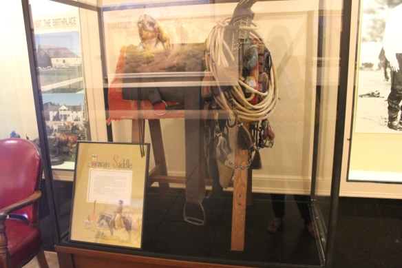 Part of Will Rogers saddle collection