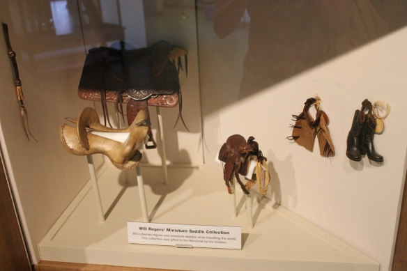 Part of Rogers's tiny saddle collection