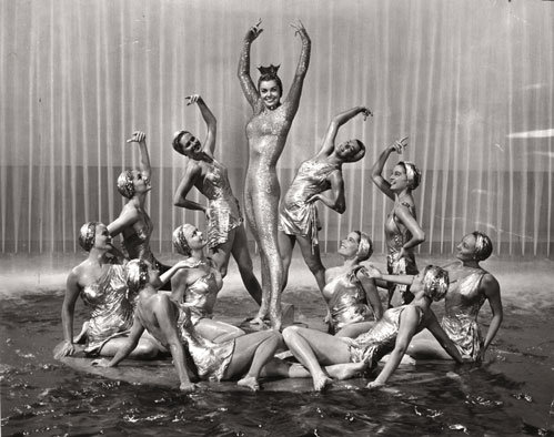 "The Red Hot Chili Peppers used scenes from Esther Williams films such as ""Million Dollar Mermaid"" for inspiration in their music video ""Aereoplane"""
