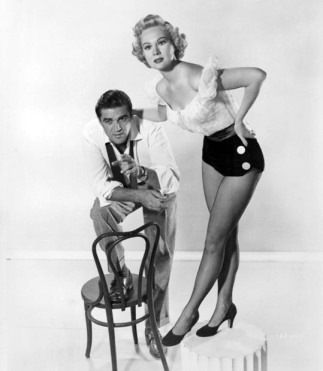 "Cochran and Mayo in a publicity photo for ""She's Back on Broadway"""