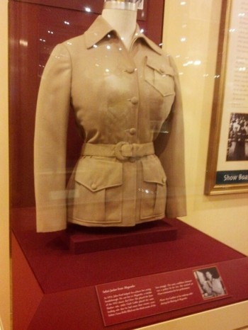 "A jacket Gardner wore in ""Mogambo"" also starring Clark Gable and Grace Kelly (Comet Over Hollywood/Jessica P)"