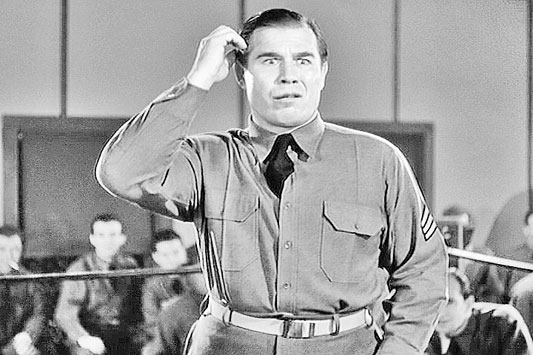 "Nat Pendleton in ""Buck Privates"" (1941) playing his stereotypical dumb character."