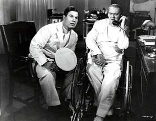 "Nat Pendleton as Joe the ambulance driver with Lionel Barrymore as Dr. Gillespie in ""Calling Dr. Kildare"" (1939)"