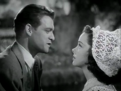 "Van Heflin and Kathryn Grayson in ""Seven Sweethearts"""