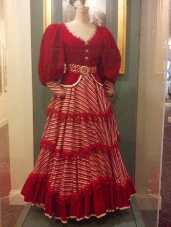 "A dress Gardner wore in ""Show Boat"" also starring Howard Keel and Kathryn Grayson (Comet Over Hollywood/Jessica Pickens)"