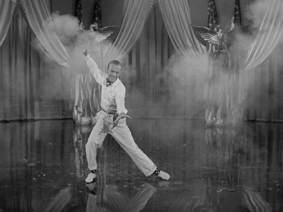 Fred Astaire in firecracker number for the Fourth of July.