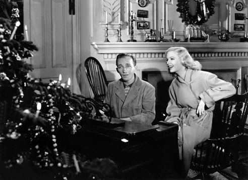 "Bing Crosby and Marjorie Reynolds (dubbed by Martha Mears) sing ""White Christmas"" at the end of the film."