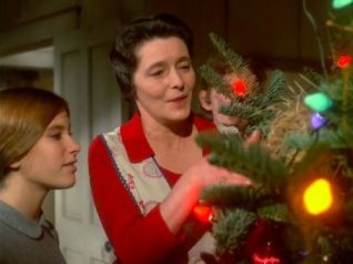 Mary Ellen wants to decorate the Christmas tree with a bird's nest and Olivia Walton agrees it makes the tree look nice.