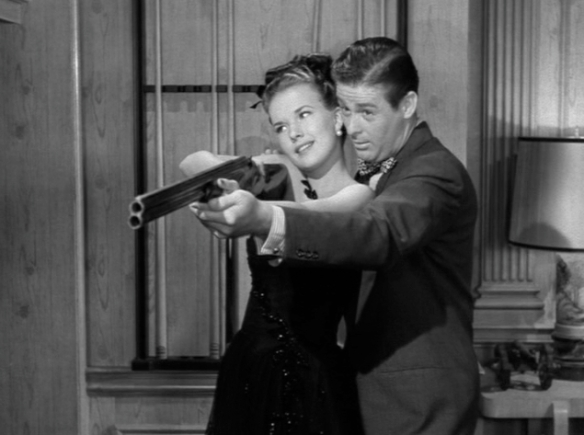 Romance blossoms between Trudy (Gale Storm) and Jim (Don DeFore)