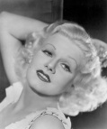 Actress Jean Harlow Posing in Seductive Pose