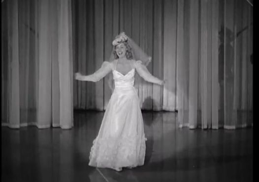 "Singer Martha Tilton makes an appearance singing ""The Wedding Cake Walk.""  (Comet Over Hollywood/Screen Cap by Jessica Pickens)"