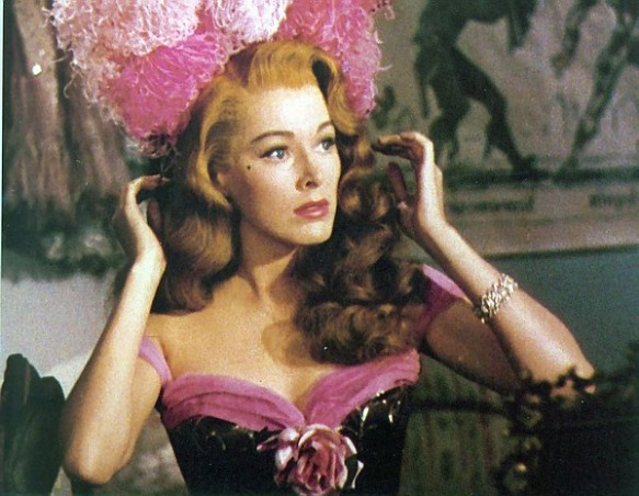 "Parker plays a fiesty female in ""Scaramouche"" (1952)"