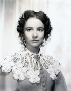 "Alicia Rhett who played India Wilkes, sister of Ashley Wilkes, in ""Gone with the Wind"" (1939)"