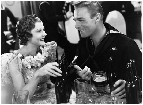 "Harriet Hilliard and Randolph Scott in ""Follow the Fleet"""