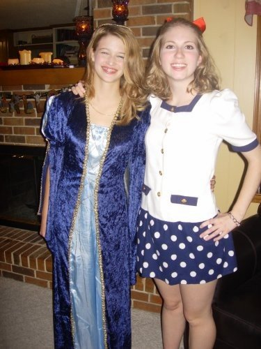 """Added bonus: Me in high school as Shirley with """"Juliet"""""""