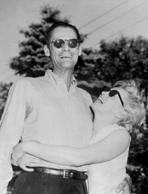 Play write Arthur Miller and Marilyn Monroe in 1956.