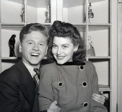 Mickey Rooney and Ava Gardner in 1941.