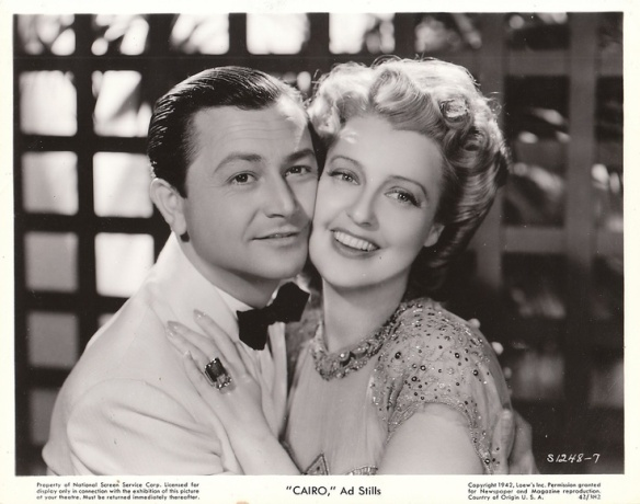 "Publicity photo of Robert Young and Jeanette MacDonald for ""Cairo."""