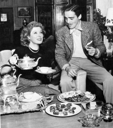 Greer Garson and Richard Ney
