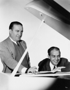 The real Gus Kahn (left) with composer Arthur Johnson in 1935 at MGM.