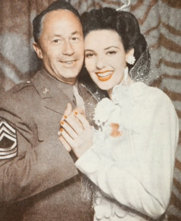 Pev Marley and Linda Darnell on their wedding day.