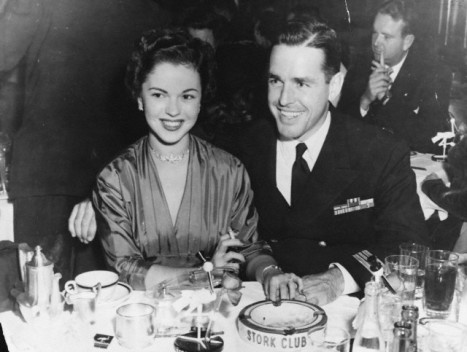 Actress Shirley Temple and her husband, Charles G. Black at the Stork Club in 1953.