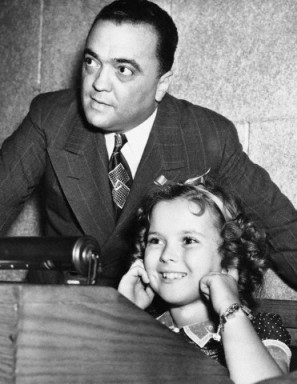 Shirley with J. Edgar Hoover in 1938.