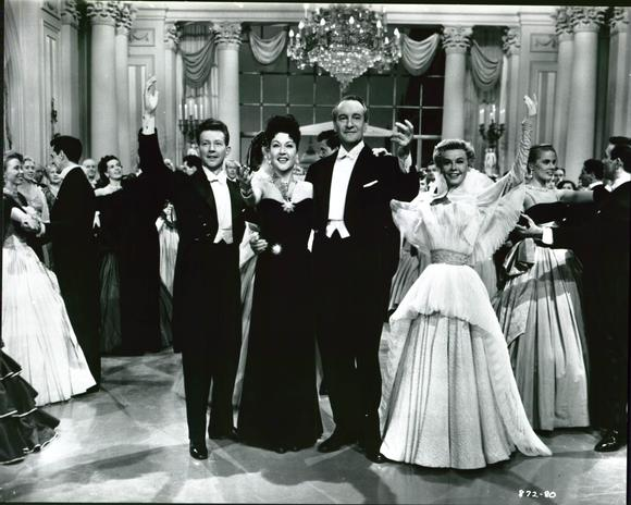 "Donald O'Connor, Ethel Merman, George Sander,  Vera-Ellen in ""Call Me Madam"""