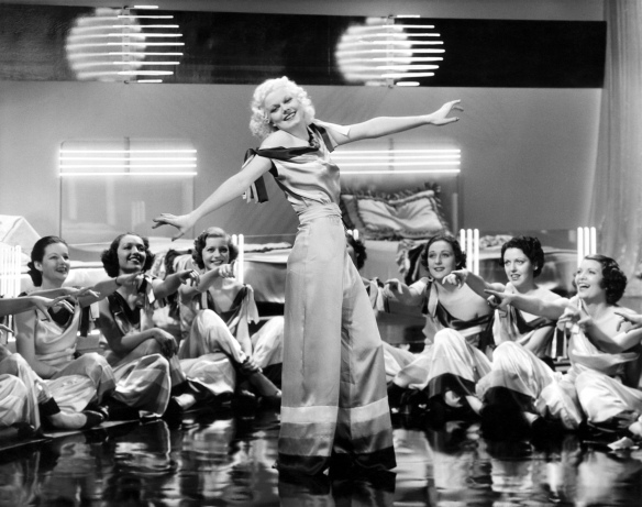 "Jean Harlow's character Mona Leslie is a musical star in ""Reckless."""