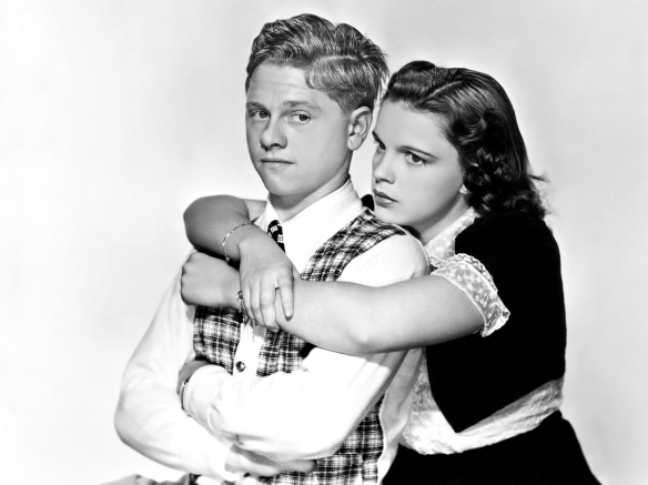 "Mickey Rooney and Judy Garland in ""Love Finds Andy Hardy."""
