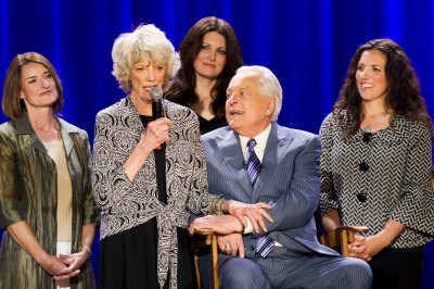 The Osborne Family celebrating the 20th Anniversary of TCM with Robert Osborne during the Ask Robert Event at The Montalban Theatre on Friday at the 2014 TCM Classic Film Festival In Hollywood, California. 4/11/14  PH: Mark Hill