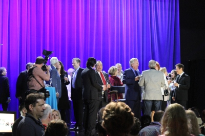 Celebrities including Jill St. John, Alec Baldwin, Alex Trebek and Robert Wagner, toast to 20 years of TCM and Robert Osborne. (Comet Over Hollywood/Jessica Pickens)