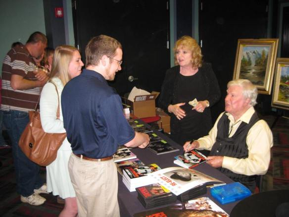 Meeting James Best and his wife Dorothy after the show on Friday. (Comet Over Hollywood/Submitted by Wade Allen)