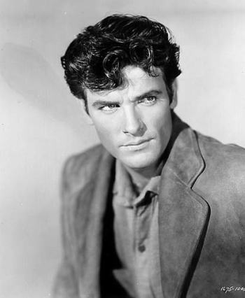 James Best in The Cimarron Kid (1952). He said he always died in his movies.