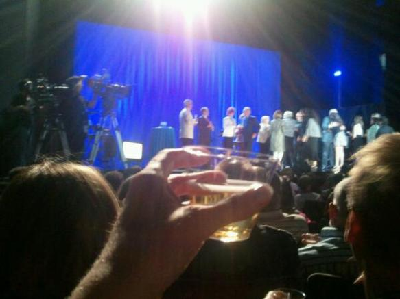 The crowd and guests toasted to Robert Osborne and 20 years of TCM. (Comet Over Hollywood/Jessica Pickens)