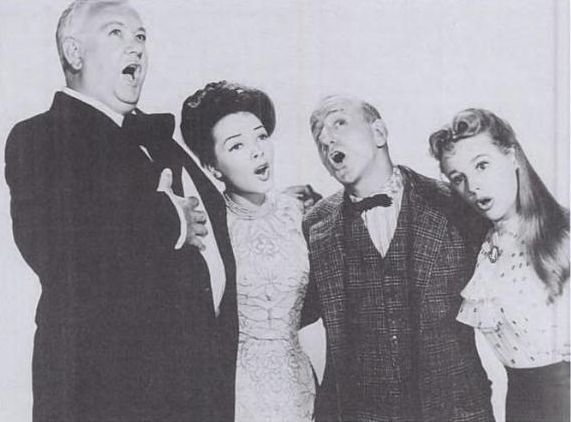 "Lauritz Melchoir, Kathryn Grayson, Jimmy Durante and June Allyson in ""Two Sisters From Boston."""
