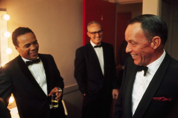1964: Quincy Jones and Frank Sinatra in Sinatra's dressing room.
