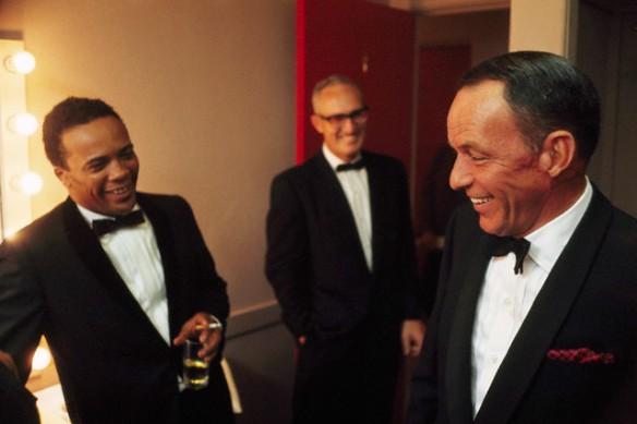 1964: Quincy Jones and Frank Sinatra in Sinatra's dressing room.