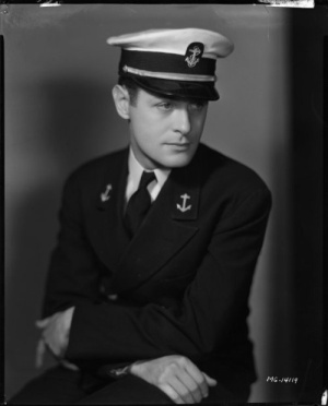 Robert Montgomery in his Naval uniform during World War II.