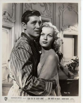 "Gordon MacRae as Frank Carter and June Haver as Marilyn Miller in ""Look for the Silver Lining"""