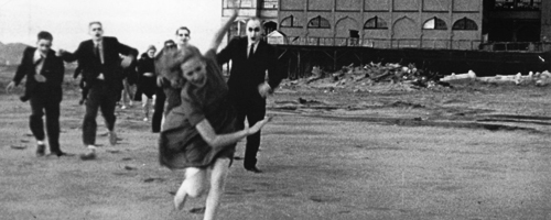 "Mary is chased by zombies in ""Carnival of Souls"" (1962)"