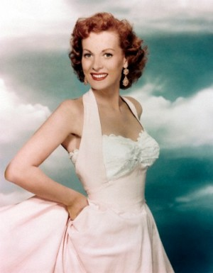 Irish actress Maureen O'Hara, pictured here in the 1950s.