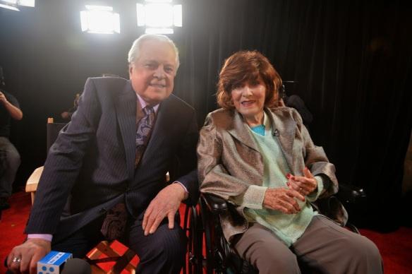 Robert Osborne and Maureen O'Hara (Photo courtest of Getty)