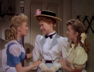 The O'Grady daughters: June Haver, Marcia Mae Jones, Debbie Reynolds