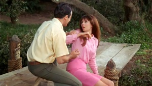 Duke tries to seduce Tina, played by Laurie Mock.