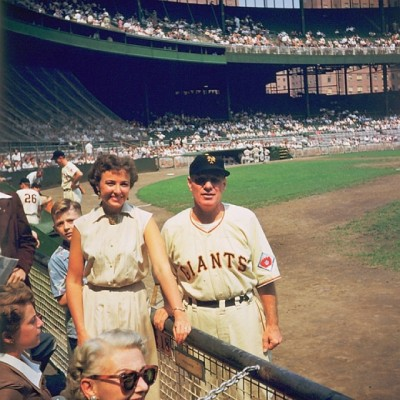 Leo Durocher and Laraine Day