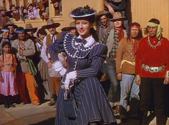 "Actress Virginia O'Brien, who had to drop out of filming after the ""Wild Wild West"" number."