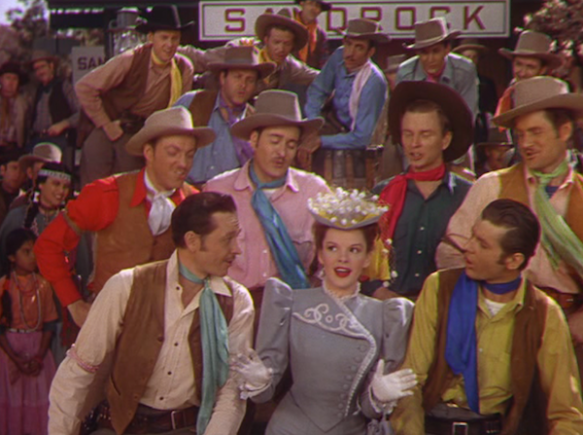"Judy Garland during ""The Atchison, Topeka and the Santa Fe"" number"