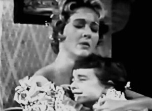 "Jane Powell sings ""Have Yourself a Merry Little Christmas"" to Patty Duke."